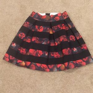 Guess Floral Stripe Skirt